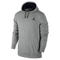 ebd80067f3c6 Details about NWT Men s NIKE AIR Jordan All-Around Pull-Over Hoodie Grey  Black 612931-063 Sz M