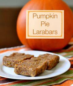 So good! Pumpkin Pie Larabars | Real Food Real Deals