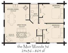 Od Log Cabin Floor Plans | Hickory Spring Log Home Floor Plans