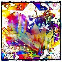 Rainbow Guardian by Mye ☆  Printing available ☆  #imye #art #prints #artist #winnipeg #digitalart #design #style #artistry #dailyart #fantasyart #decor #rainbow #guardian #angel #abstract #inspiration #star #reiki #energyhealing #spiritguide #soul