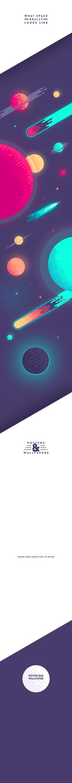 Retro space poster design on Behance. Flat Illustration, Graphic Design Illustration, Digital Illustration, Graphic Art, Flower Graphic, Graphisches Design, Game Design, Layout Design, Nails Design