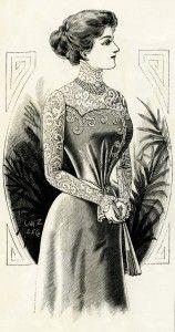 Old Design Shop ~ free printable Victorian lady 1899 vintage fashion plate