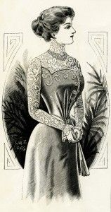 Old Design Shop ~ free printable Victorian lady 1899