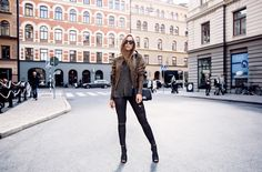 Kenza Zouiten Black, Army Outfit Fall Fashion Casual Outfit