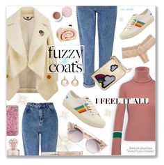 """""""#25 Keep it Cozy - Fuzzy Coats: 15/11/17"""" by marika-jane ❤ liked on Polyvore featuring Moncler, Miss Selfridge, Eberjey, Jimmy Choo, Vince Camuto, Burberry, Kate Rowland, Les Petits Joueurs, ban.do and David Yurman"""