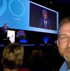 The Finnish President Sauli Niinistö and his touching speech of the importance of nursing. Sairaanhoitajaphäivät 2015, Helsinki.