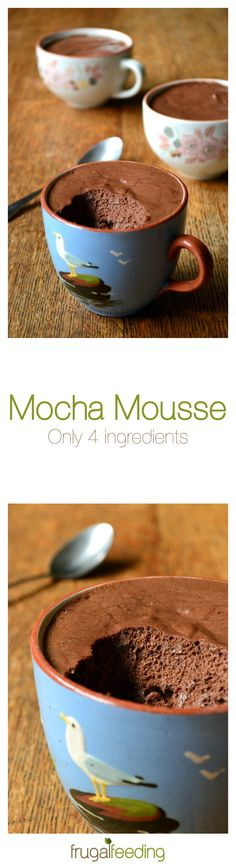 Mocha Mousse Recipe - made with only 4 ingredients, this simple mousse provides the perfect end to any dinner party. Light and airy - there's no cream - but incredibly flavoursome, this is the real deal.