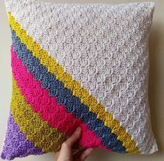 Repost Loving this crochet cushion cover by Crochet Pillow Cover ~ Consider Further Plans On Amazing 50 Pics Crochet Pillow Cover Intended for Specific One Little Rayndrop Crochet Cushion Cover On Crochet Pillow Cover Crochet Pillow Cases, Crochet Pillow Patterns Free, Knit Pillow, Free Crochet, Cushion Pillow, Afghan Patterns, Free Knitting, Free Pattern, Knitting Patterns