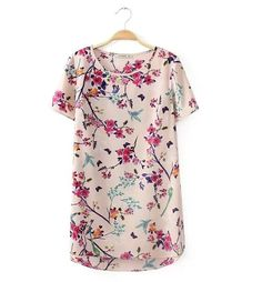 Ladies blouses flower pattern stylish comfortable T-shirts ND-A9080