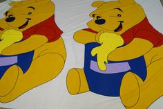 B73 Katoen grote Winnie de Pooh beer (per paneel)