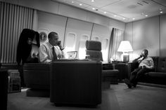 President Barack Obama talks on the phone with Prime Minister Manmohan Singh of India aboard Air Force One during a flight to Colorado, Aug. 8, 2012. The President called Prime Minister Singh to express condolences for victims of the attack at the gurdwara in Wisconsin.