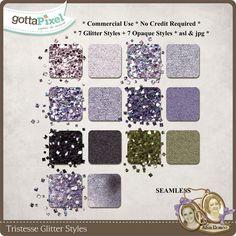 Tristesse CU Glitter Styles :: Gotta Pixel Digital Scrapbook Store by Silvia Romeo $5.90