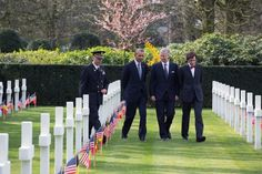 President Barack Obama visits Flanders Field American Cemetery and Memorial, a World War I cemetery in Waregem, Belgium, with Belgian Prime Minister Elio Di Rupo and King Philippe, March 26, 2014. (Official White House Photo by Pete Souza)