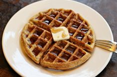 oatmeal waffles recipe - How to turn Rolled Oats into Instant Oats: Chop the rolled oats up in your food processor or blender so that they're smaller, more granulated and the consistency of instant oats.