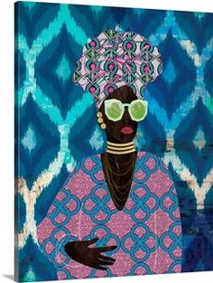 Visual And Performing Arts, Framed Prints, Canvas Prints, Ethnic Patterns, African American Art, Big Canvas, Turban, Fun Things, Accent Decor