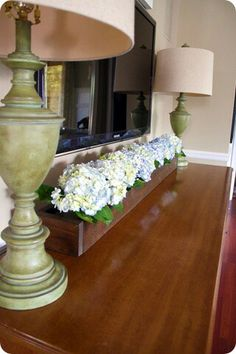 Yes, for right in front of the tv with fake hydrangeas :(  http://www.thriftydecorchick.com/2011/07/diy-trough-thingy.html?m=1