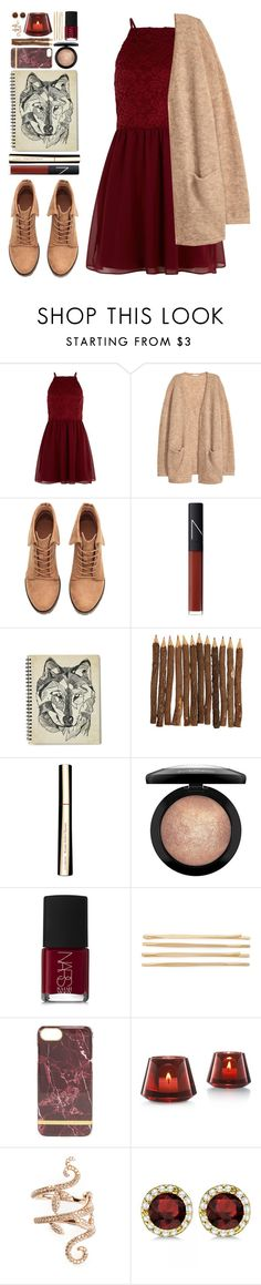 """""""#1062 Caroline"""" by blueberrylexie on Polyvore featuring New Look, H&M, NARS Cosmetics, Clarins, MAC Cosmetics, Cara, Baccarat, Elise Dray and Allurez"""