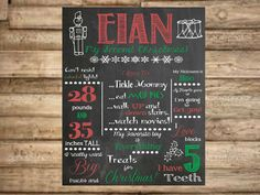 Baby First Christmas Custom Chalkboard Poster by BellaDreamDesigns, $25.00
