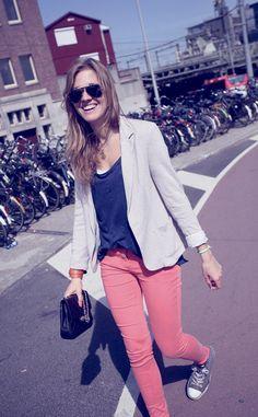 Moda en la calle en Amsterdam