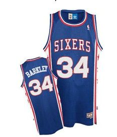 1dd680feaa2 Philadelphia 76ers  34 Charles Barkley Blue Swingman Throwback Jersey  Adidas Nba