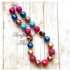 Disco Diva Superstar Custom Chunky Bubblegum Bead Necklace- Birthday-  Baby Girl Necklace- Toddler Girl Necklace on Etsy, $20.00