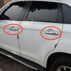 8 Pcs DIY Car Style Stainless Steel ABS The Door Handle Cover Case stickers for Mitsubishi Outlander 2013-16 Parts Accessories