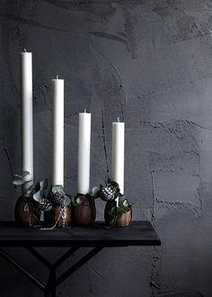 News - Christmas Inspiration 2014 Nordic Christmas, Black Christmas, Christmas 2014, Christmas Deco, All Things Christmas, Winter Christmas, Christmas Lights, Christmas Crafts, Natural Christmas
