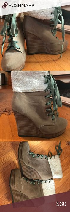 Winter wedge boots! EUC, only worn a few time. Size 7! Super cute for fall and winter  Shoes Ankle Boots & Booties