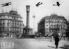Biplanes Over Potsdamer Platz, Berlin, 1930 from our gallery Vintage Berlin