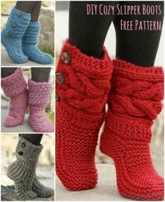Knitted Slipper Boots Pattern Ideas You Will Love