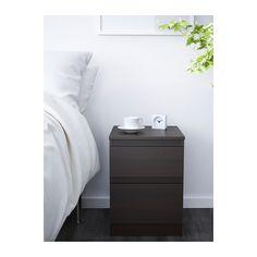 KULLEN Lipasto, 2 laatikkoa, mustanruskea mustanruskea 35x49 cm