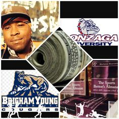 """3/10/15 NCAAB #MarchMadness :   #BYU #Cougars vs #Gonzaga #Bulldogs (Take: Cougars +7.5,Over 154) (THIS IS NOT A SPECIAL PICK ) """"The Sports Bettors Almanac"""" SPORTS BETTING ADVICE  On  95% of regular season games ATS including Over/Under   1.) """"The Sports Bettors Almanac"""" available at www.Amazon.com  2.) Check for updates   My Sports Betting System Is an Analytical Based Formula   """"The Ratio of Luck""""  R-P+H ±Y(2)÷PF(1.618)×U(3.14) = Ratio Of Luck  Marlawn Heavenly VII ( SportyNerd@ymail.com )"""