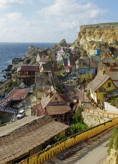 Popeye Village in Anchor Bay, Malta (by Adrıen)