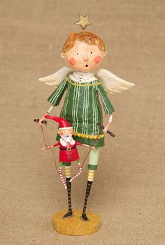 Vintage Christmas, Country Christmas figurines, Old Fashioned Christmas ornaments and retro Christmas party decorations. Find Christmas decorating ideas here! Christmas Figurines, Christmas Angels, Vintage Christmas, Christmas Crafts, Christmas Decorations, Christmas Ornaments, Xmas, Paper Mache Sculpture, Sculptures