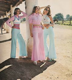 May 1973. 'Airy. Baring. Fluid-moving fascinations making the scene at a Mexico City ranch.' ~ Bobbie Brooks