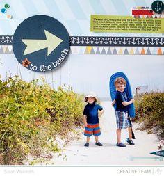 To the Beach {Studio Calico Atlantic}  by Susan Weinroth @2peasinabucket