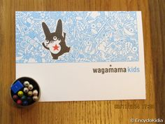EncycloKidia Kidfriendly Restaurants - Wagamama @Ealing Broadway. A special menu for children to browse while mum and dad look at their menus.