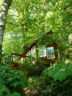 Another Tiny House Swoon vacation option - altho I'll need to build a second one for my books!