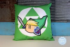 Zelda Link Decorative Pillow Cover 16 x 16 Gaming by MomoGearShop