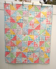 Quilt made from Sarah Jane's newest fabric collection, Sommer for Michael Miller fabrics. Includes free quilt tutorial.