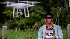 Amazon tribes are using drones to track deforestation in Brazil - CNN Football Feld, Jaguar, Harpy Eagle, Amazon Tribe, Indigenous Tribes, Use Of Technology, Drones, Brazilian Rainforest, Uplifting News