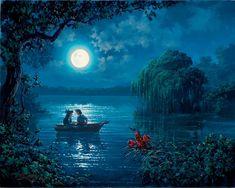 The Little Mermaid Walt Disney Fine Art Rodel Gonzalez Signed Limited Edition of 195 on Canvas