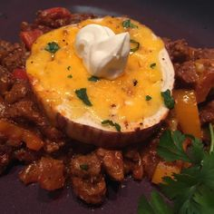 """Mexican Eggplant   """"This is very good, it just needs a little more spices...maybe some cumin and garlic powder. I added a little bit of sour cream for added texture."""""""