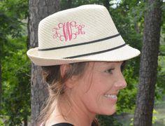 Monogrammed Fedora Hat by trendyembroidery on Etsy, $34.99