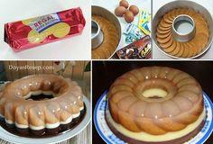 Pudding Desserts, Pudding Recipes, Cake Recipes, Dessert Recipes, Pudding Ideas, Regal Recipe, Biscuit Cake, Indonesian Food, Indonesian Recipes