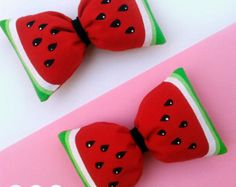 Items similar to Watermelon bow headband hot pink green glitter bow metallic sparkly accent baby girl on Etsy Diy Hair Bows, Bow Hair Clips, Elastic Headbands, Baby Headbands, 2nd Birthday Party For Girl, Watermelon Crafts, Watermelon Birthday Parties, Baby Hair Bands, Candy Hair