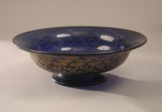 Bowl decorated with a fish-scale pattern Date: 1475–1600 Culture: Italian, Venice (Murano) Medium: Glass Dimensions: 2 13/16 × 8 3/4 in. (7.1 × 22.2 cm); Base: 3 3/4 in. (9.5 cm)