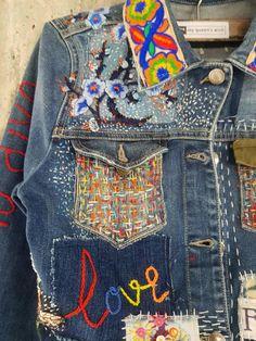 Levis Vintage, Jean Vintage, Vintage Levis Denim Jacket, Jeans Denim, Jacket Jeans, Patch Jean Jacket, Altered Couture, Jean Diy, Baggy
