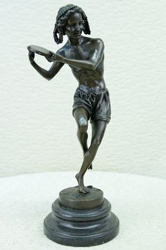 Signed Francois Duret Dancing Youth Bronze by 1000000treasure