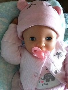 20 inches Zapf baby girl doll -blanket-and -pacifier